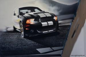 Ford Mustang - skos wnętrza